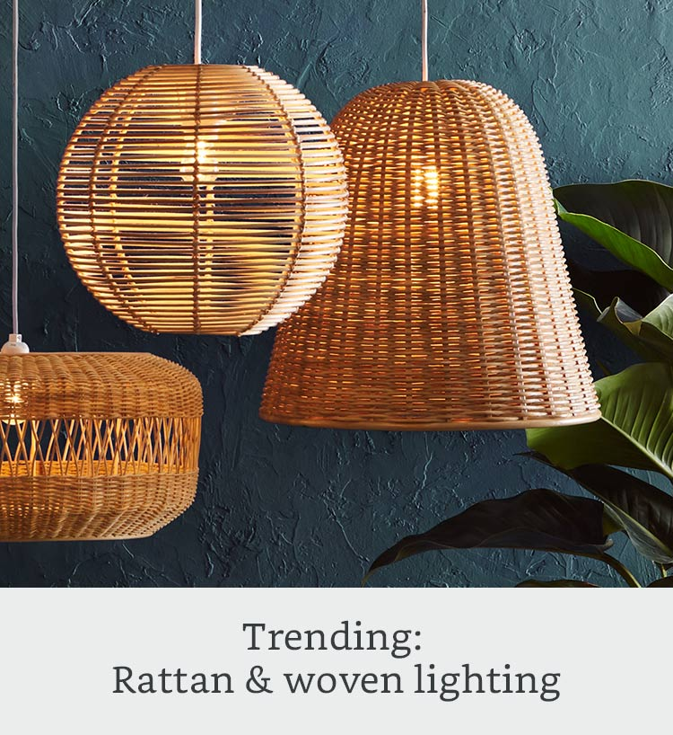 Trending: Rattan & woven lighting