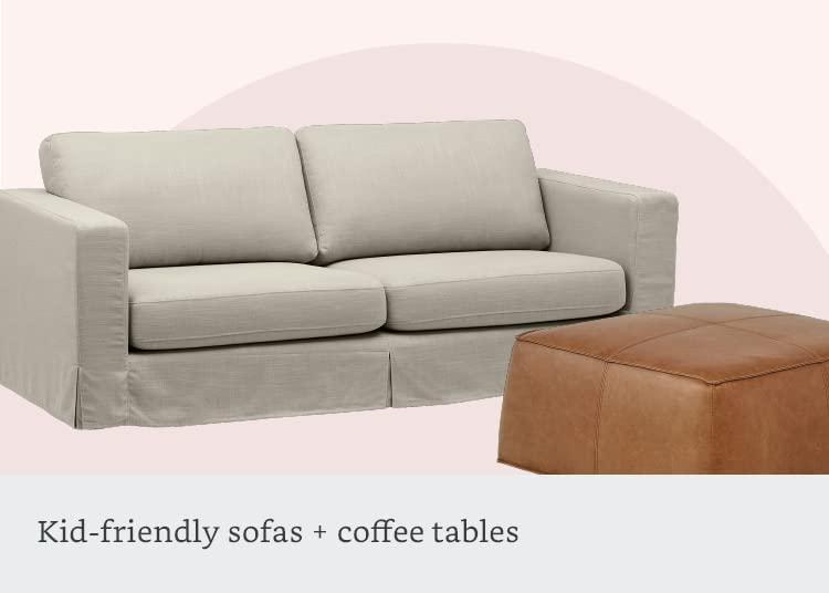 Mid-friendly sofas + coffee tables