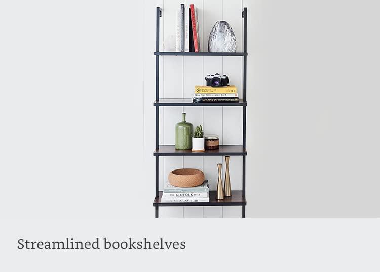 Streamlined bookshelves