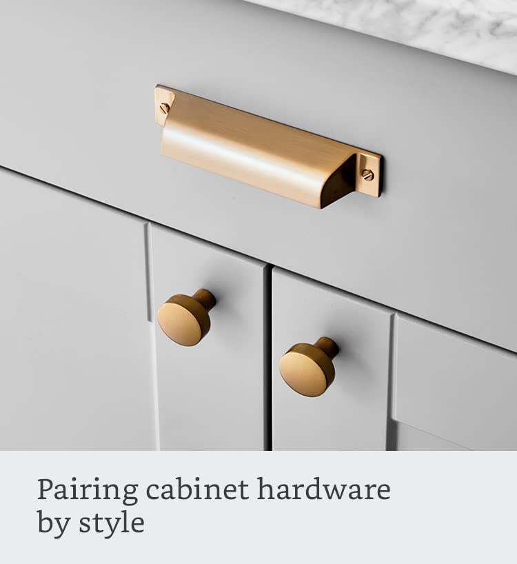 Pairing cabinet hardware by style