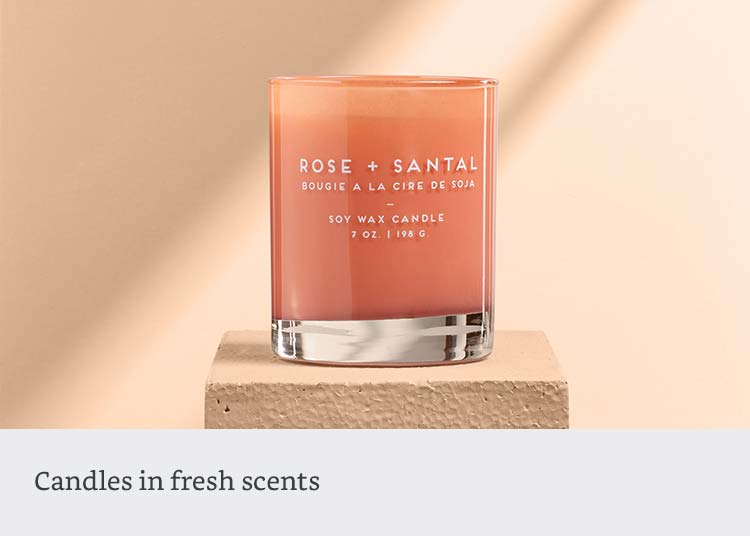 Candles in fresh scents