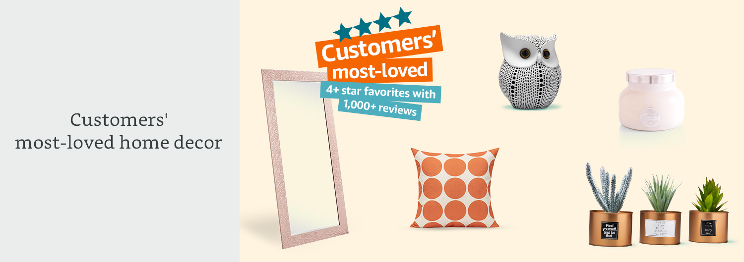 Customers' most-loved home decor