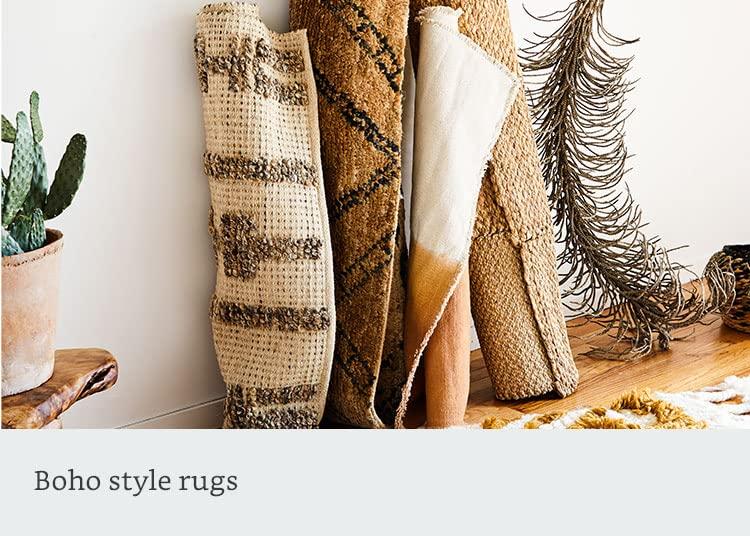 Boho style rugs
