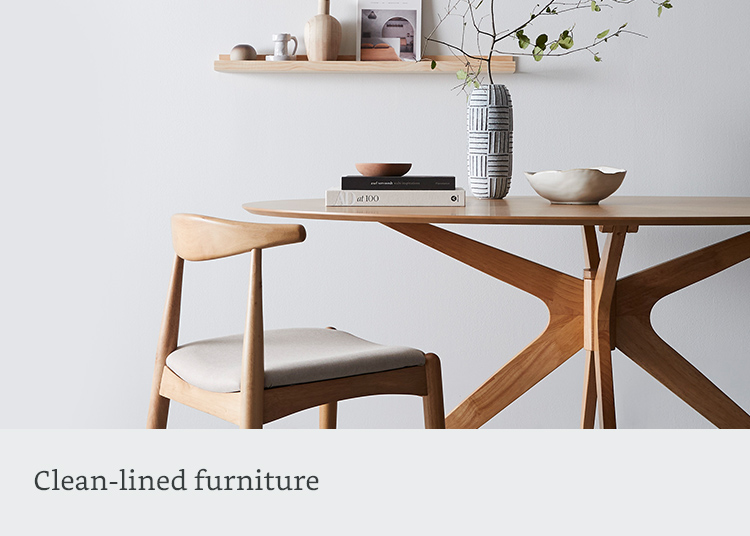 Clean-lined furniture