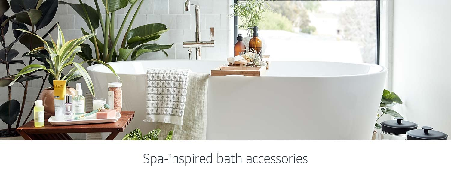 Spa-inspired bath accessories