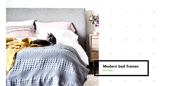 Modern bed frames