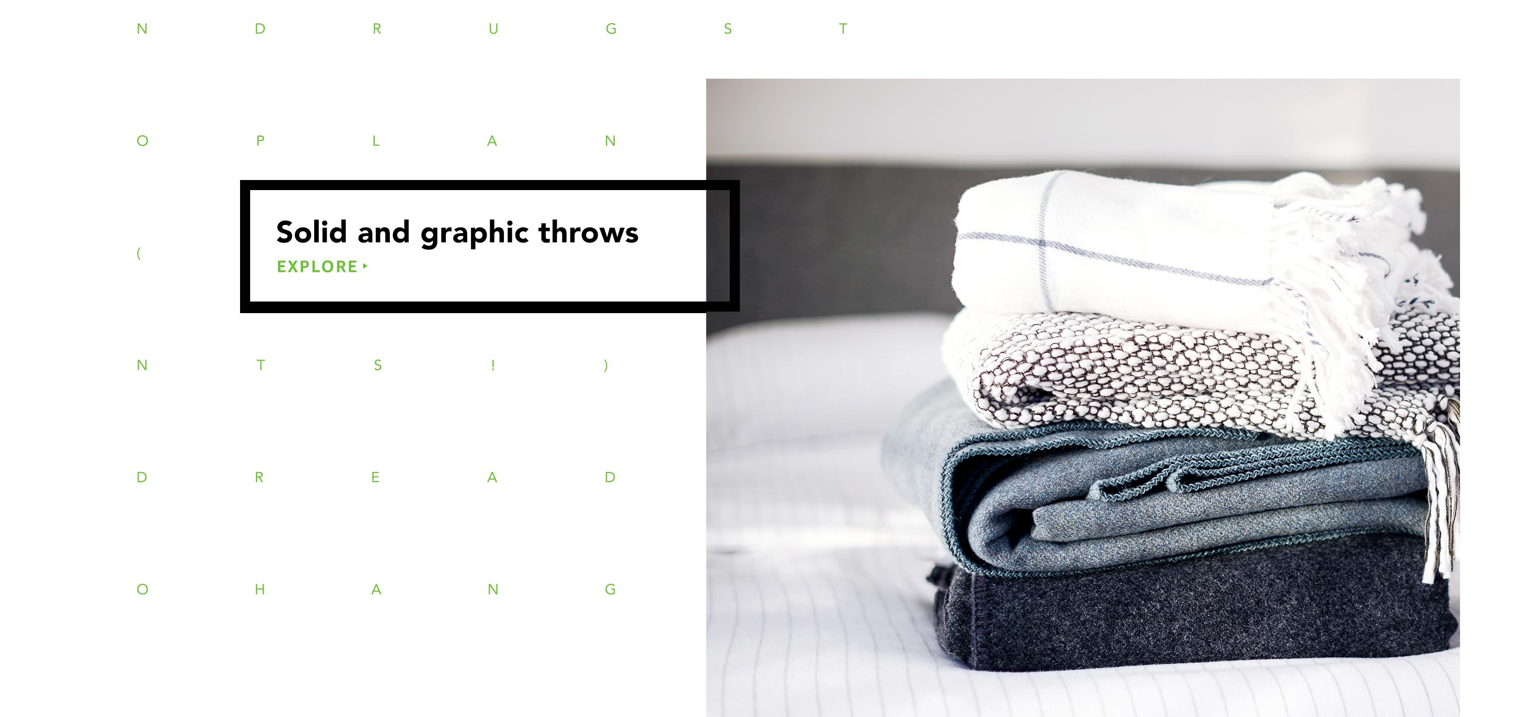 Solid and graphic throws