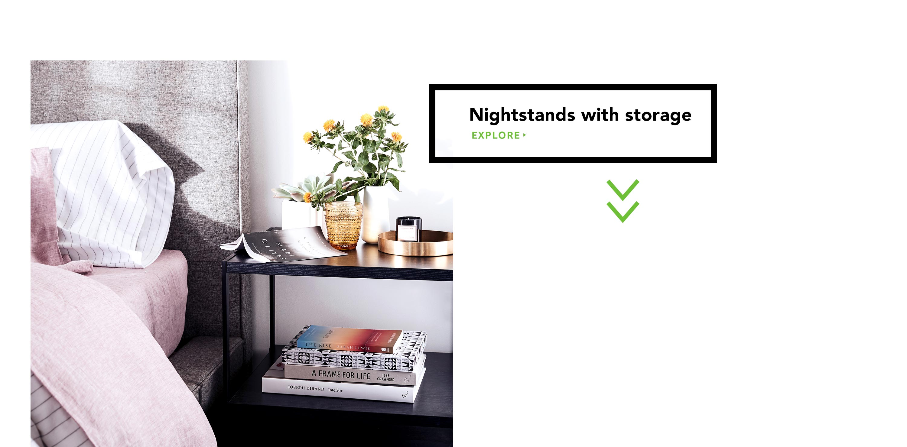 Nightstands with storage