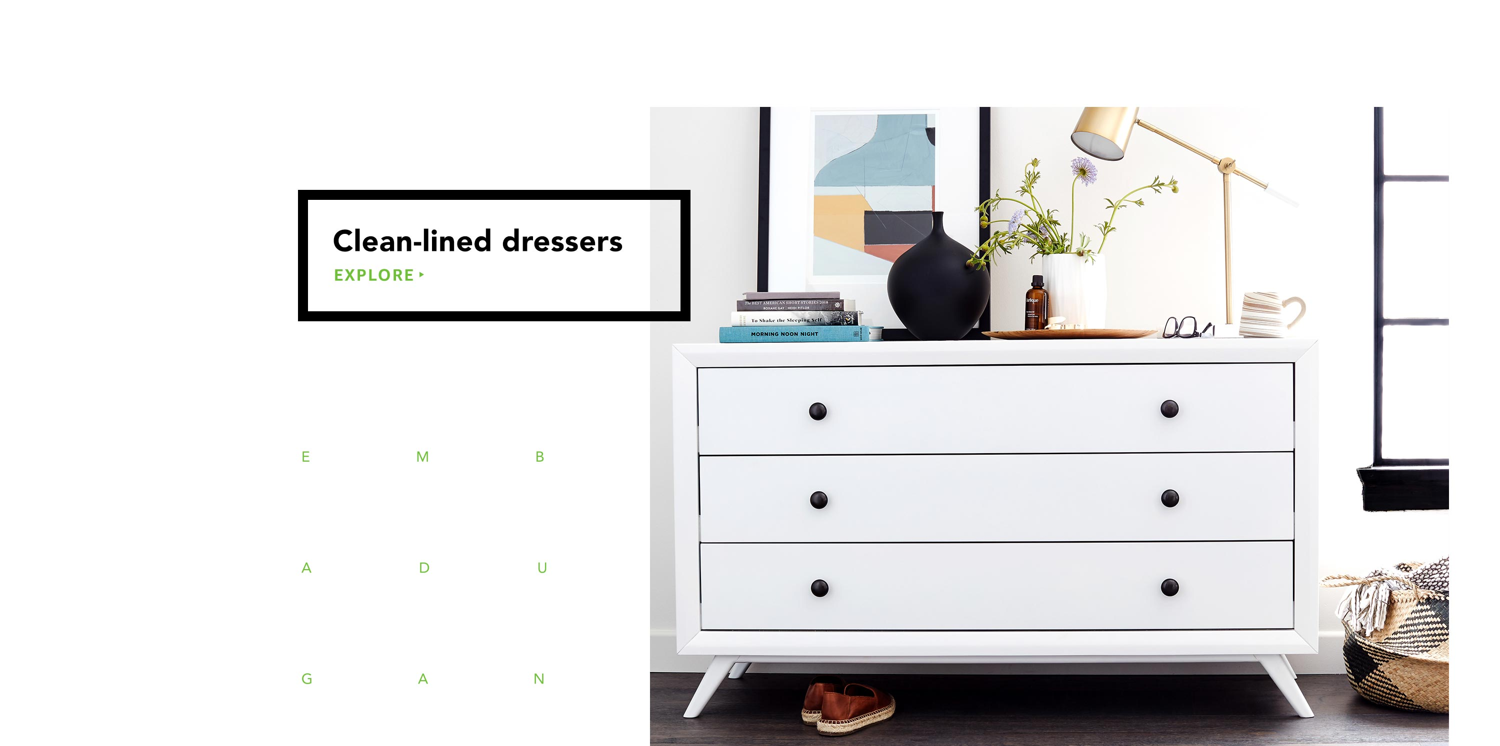 Clean-lined dressers