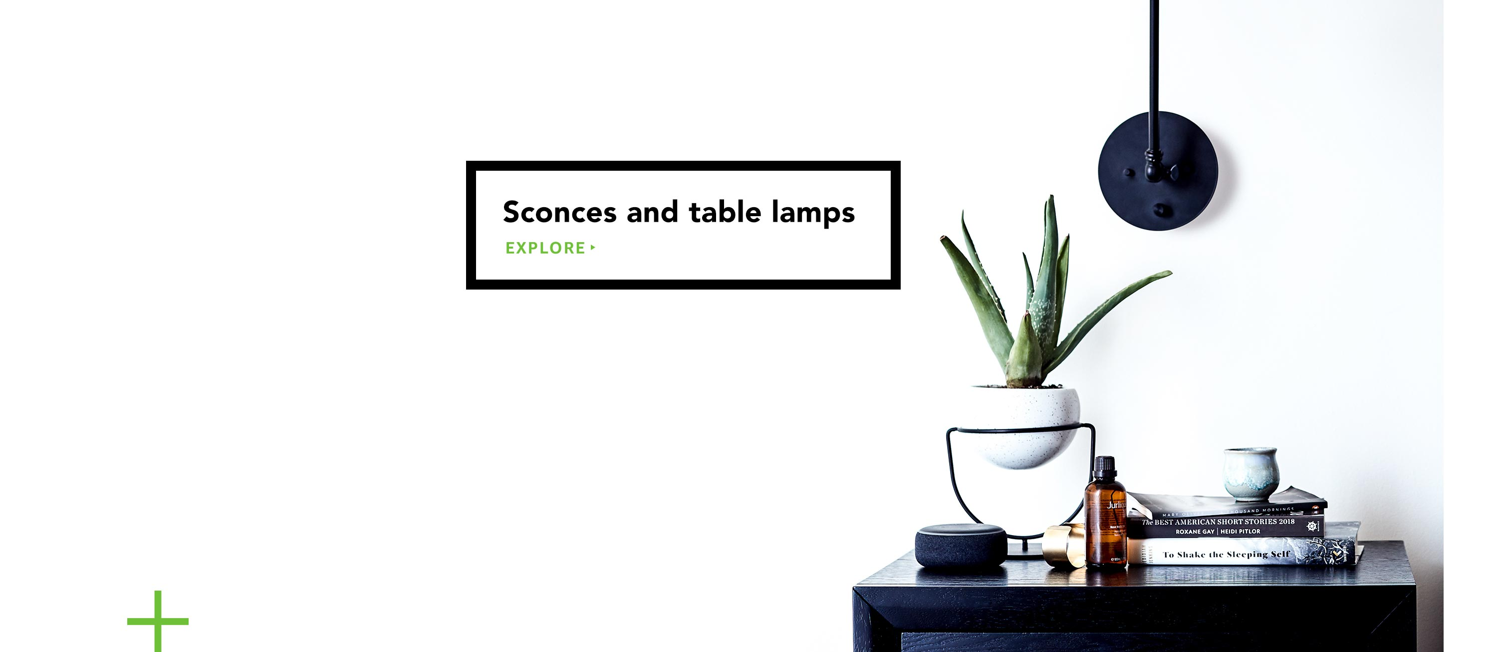 Sconces and table lamps