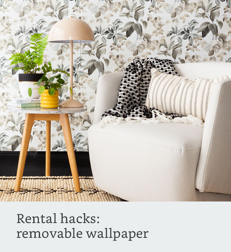 Rental hacks: removable wallpaper