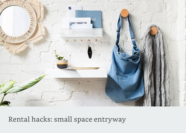 Rental hacks: small space entryway