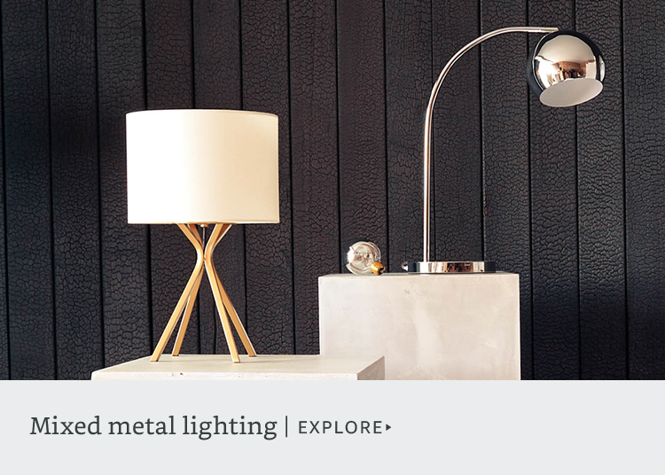 Mixed metal lighting