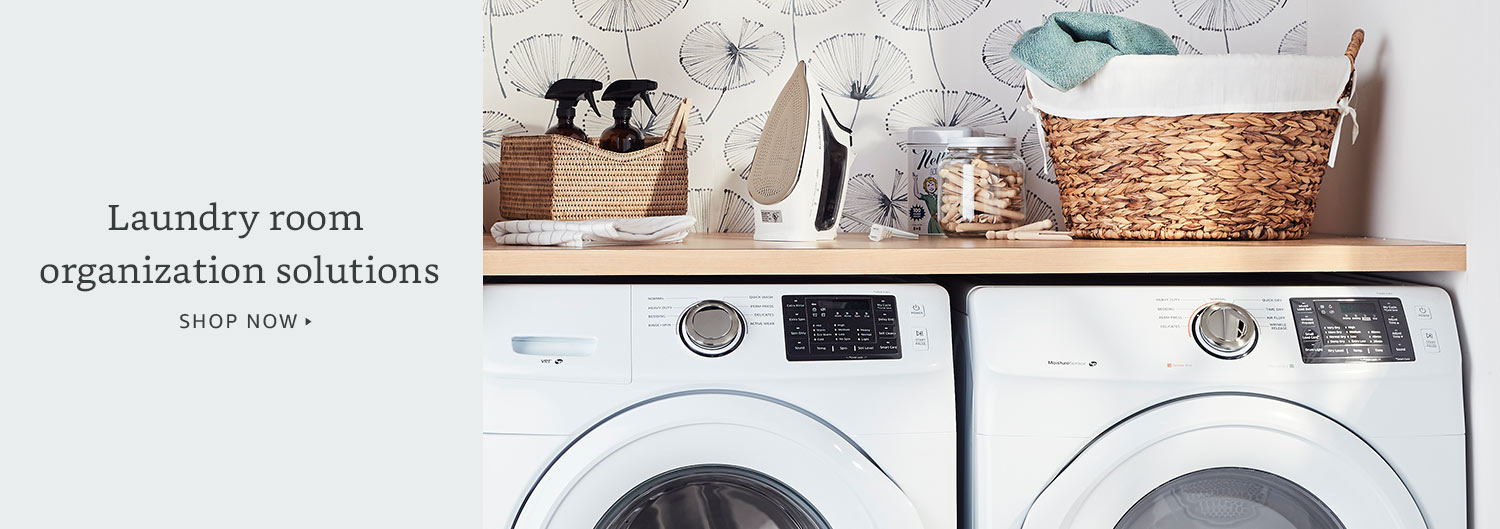 Laundry room organization solutions