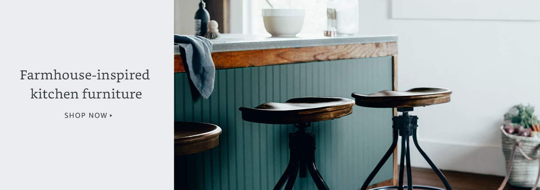 Farmhouse-inspired kitchen furniture