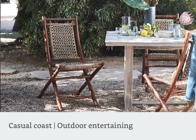 Casual coast outdoor entertaining