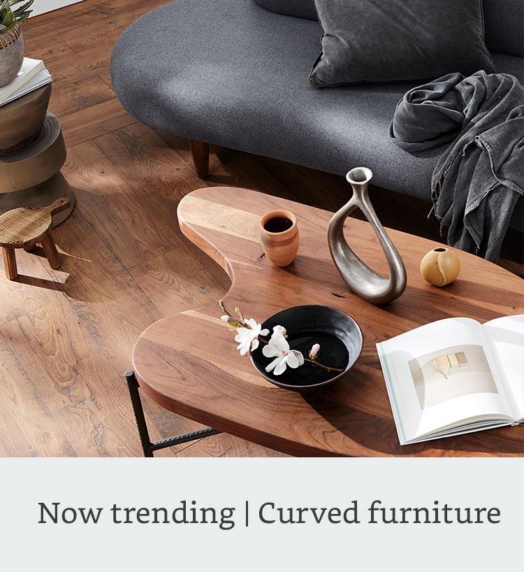 Now trending: curved furniture