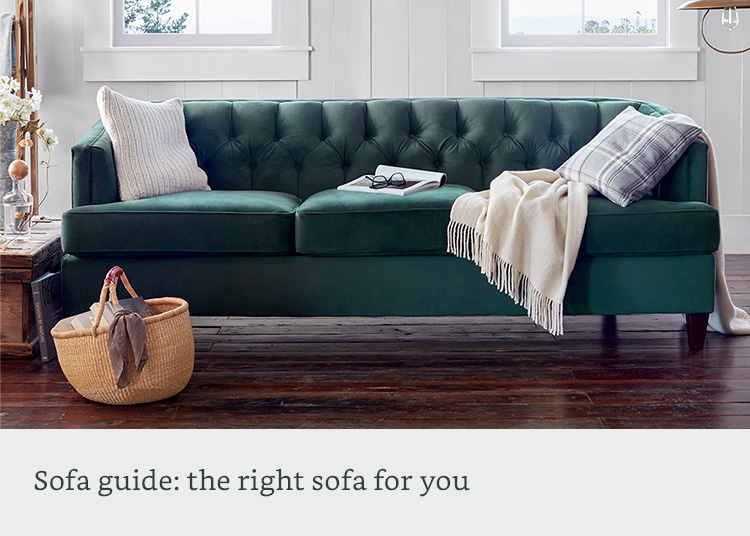 The right sofa for your space