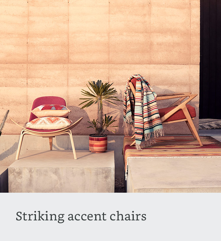 Striking accent chairs