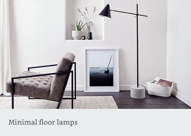 Minimal floor lamps