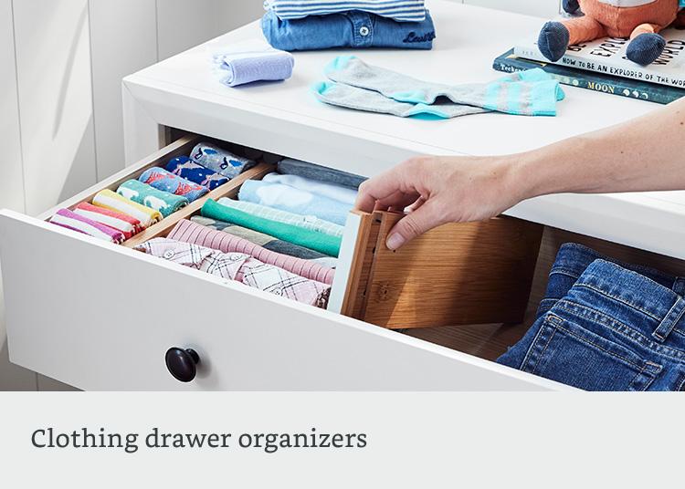 Clothing drawer organizers