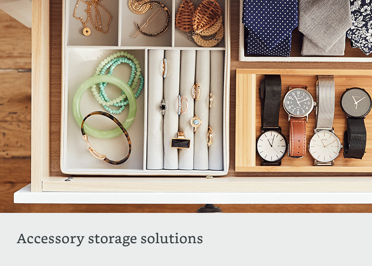 Accessory storage solutions