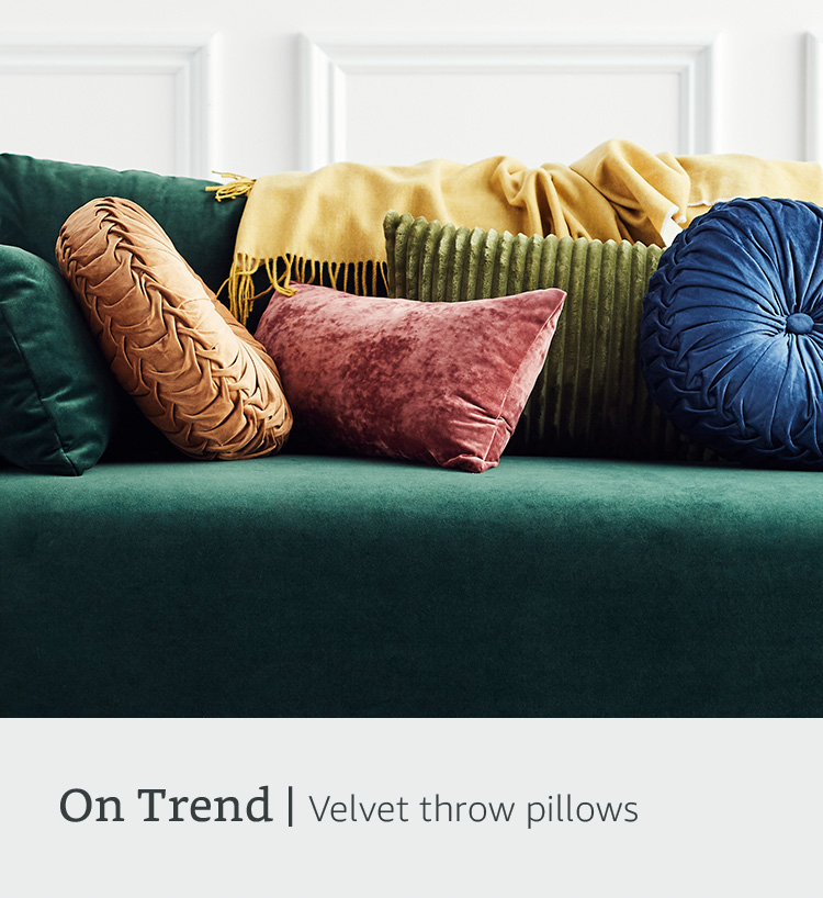 On trend: velvet pillows