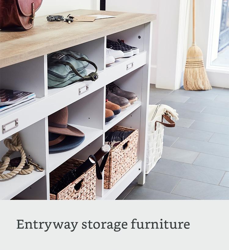 Entryway storage furniture