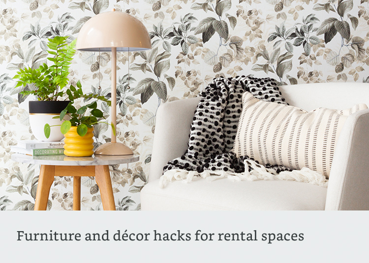 Furniture and decor hacks for rental spaces