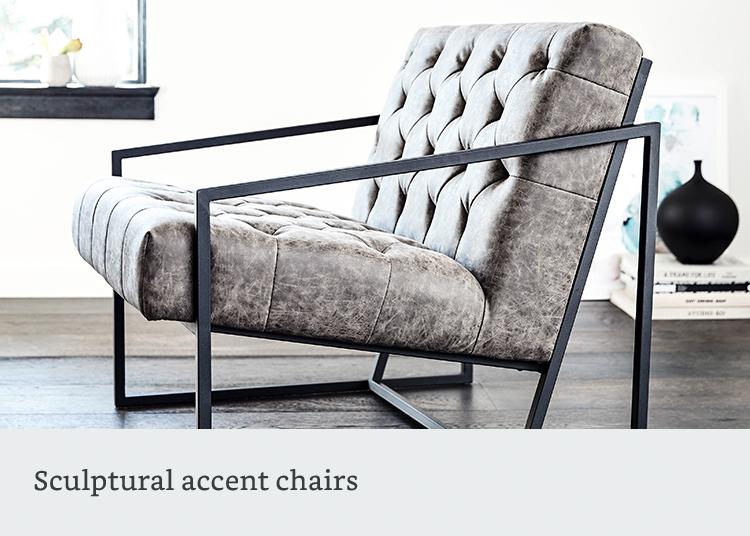 Sculptural accent chairs