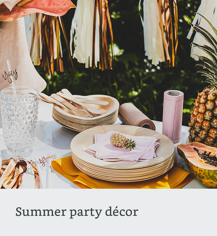 Summer party decor
