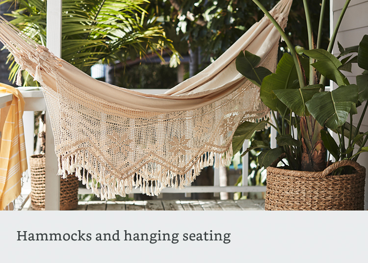 Hanging outdoor seating