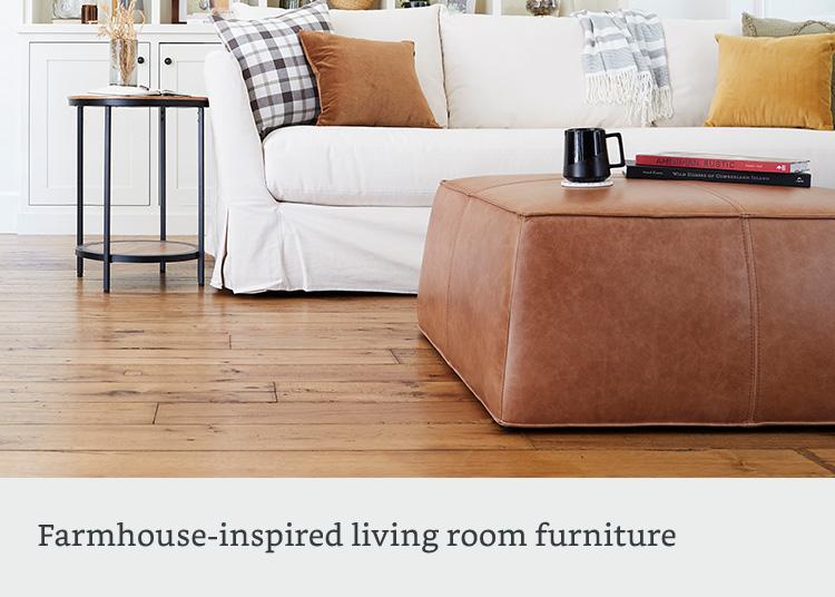 Farmhouse-inspired living room