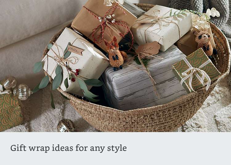 Gift wrap ideas for any style
