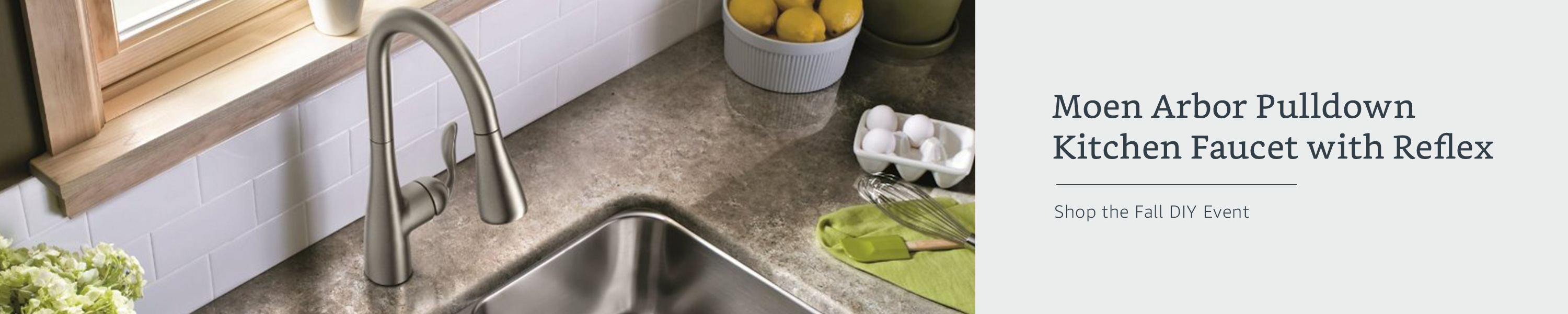 Moen Arbor Pulldown Kitchen Faucet with Reflex. Shop the Fall DIY Event.