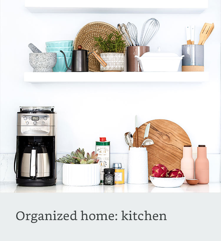 Organized home: kitchen