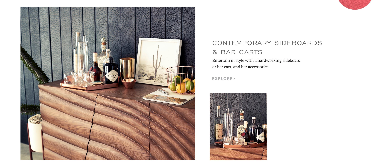 Contemporary Sideboards & Bar Carts