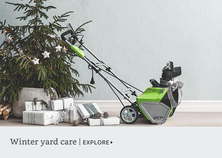 Winter yard care