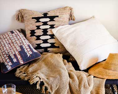 Global-inspired rugs & décor