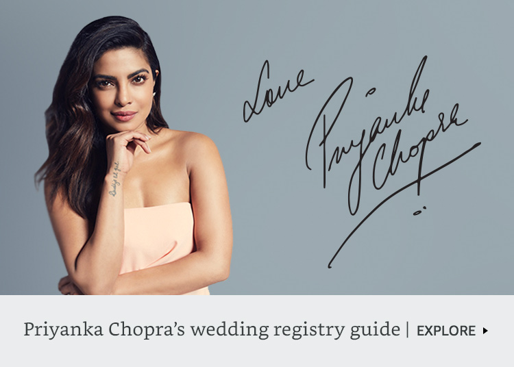 Priyanka Chopra's wedding registry guide
