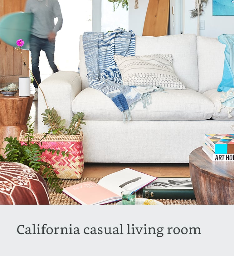 California casual living room