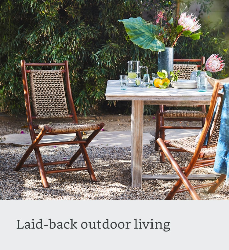 Laid-back outdoor living
