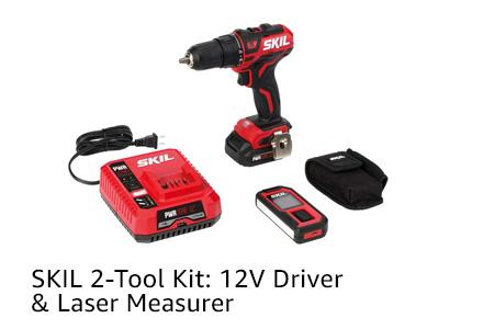 SKIL 2-Tool Kit: 12V Driver & Laser Measurer