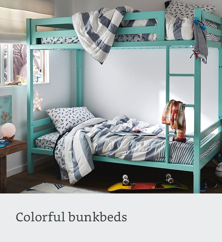Colorful bunkbeds
