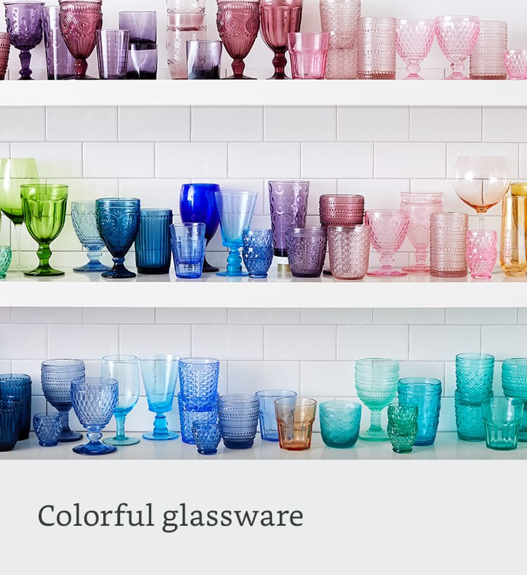 Colorful glassware