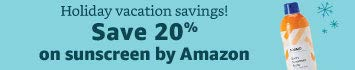 20% off sunscreen by Amazon
