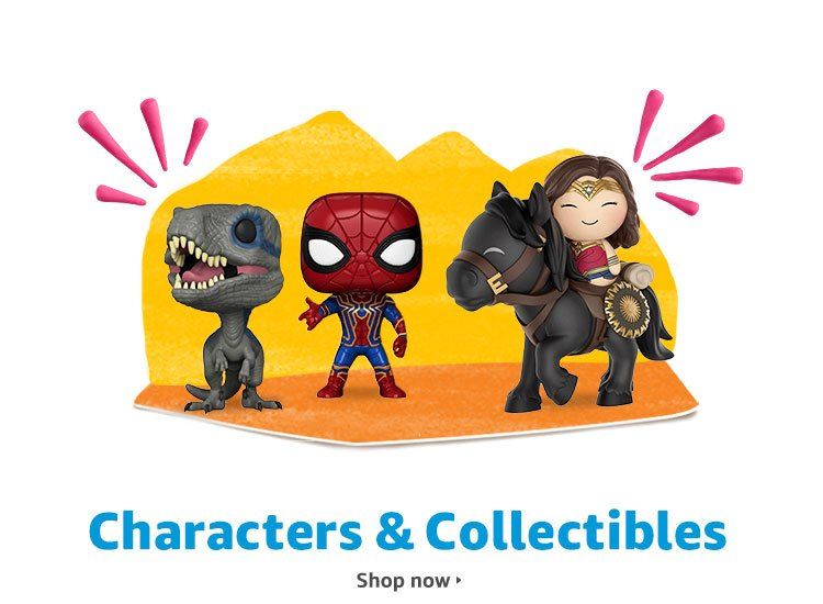 Characters & Collectibles: Movie & TV toys, action figures, plush dolls & more