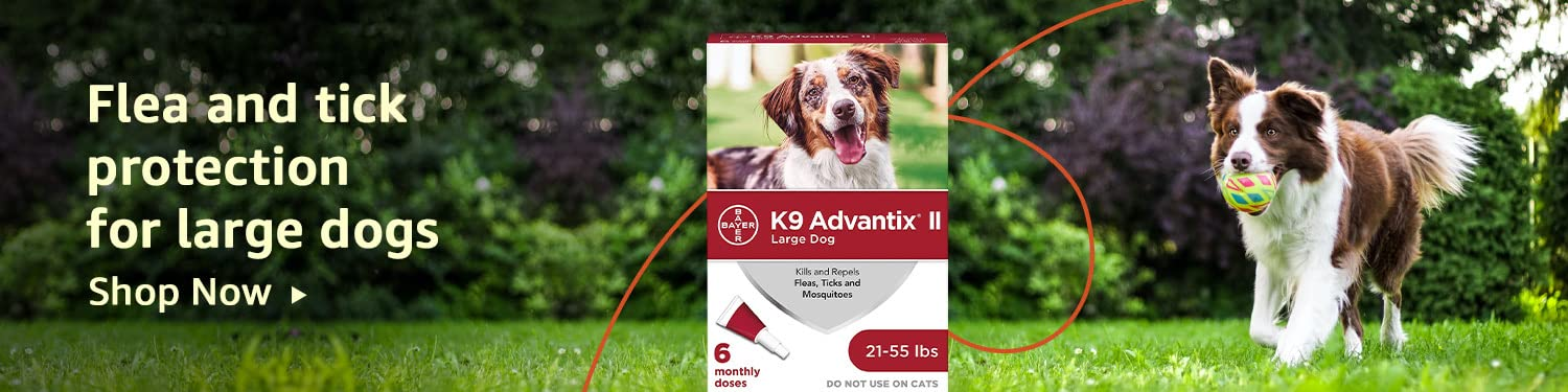 Flea and tick protection for large dogs