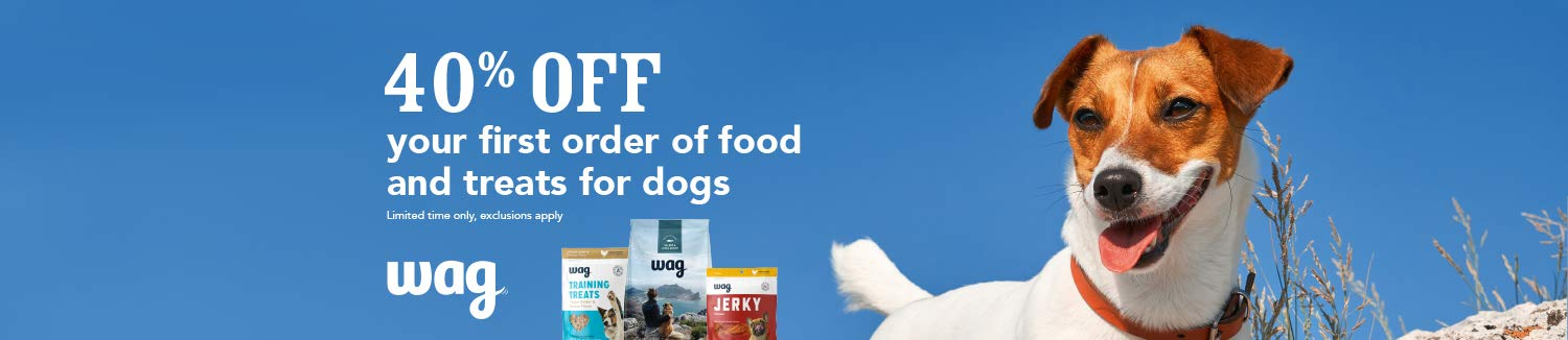 Wag - 40% off on your first Wag order