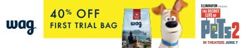 40% off first trial bag, Wag by Amazon